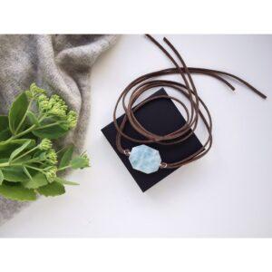 Bracelet-Choker Aquamarine