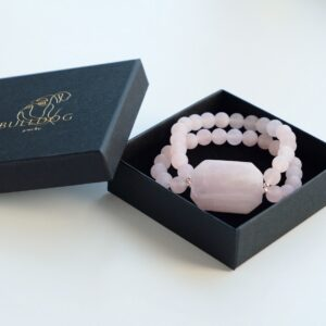 Bracelet Rose Quartz and Kunzite