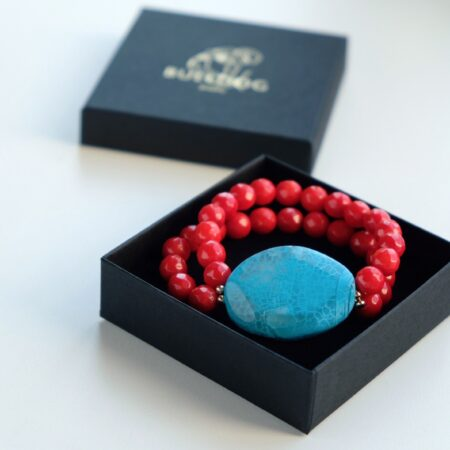 Bracelet Coral and Agate