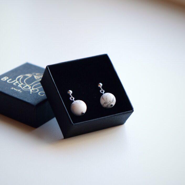 Earrings Howlite