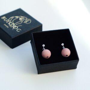 Earrings Rhodochrosite
