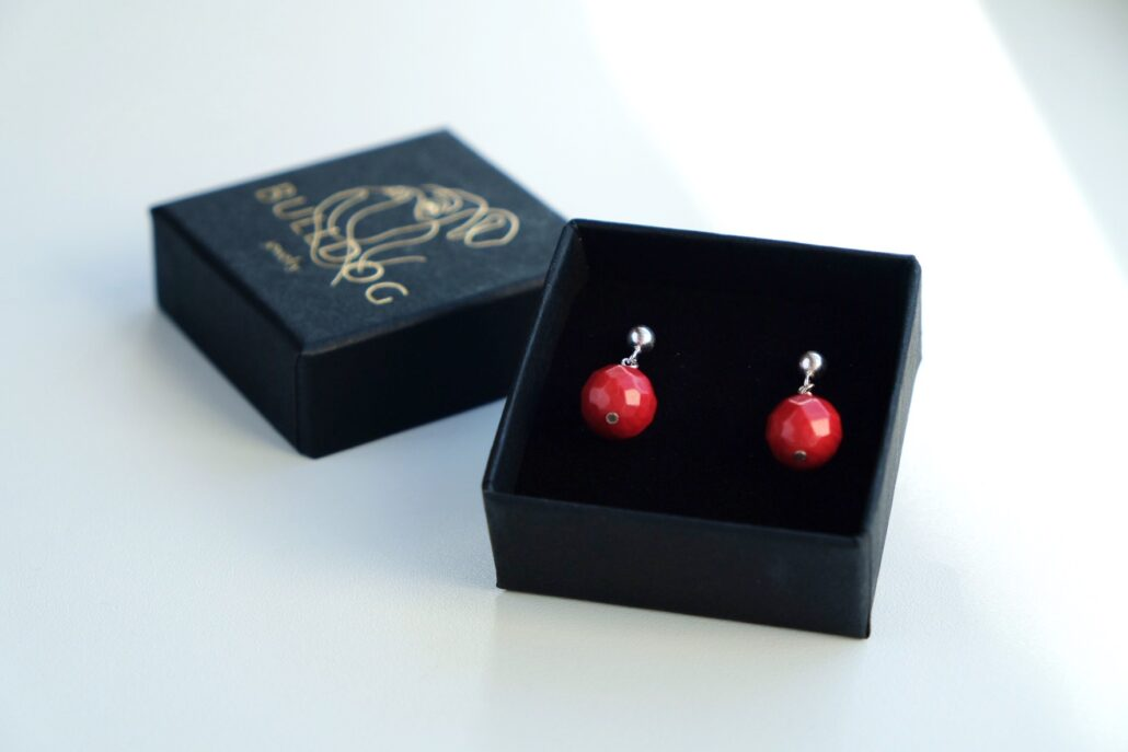 Earrings Coral