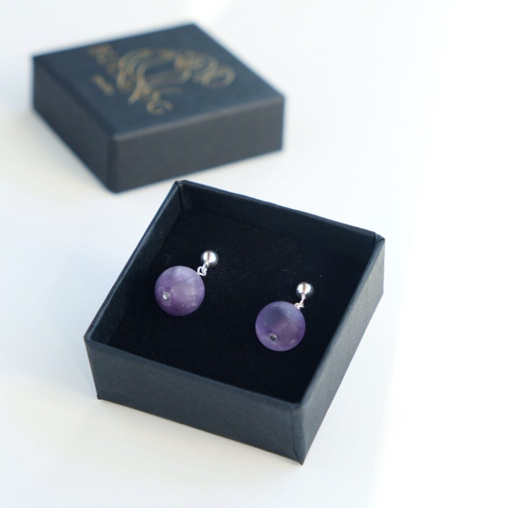 Earrings Amethyst