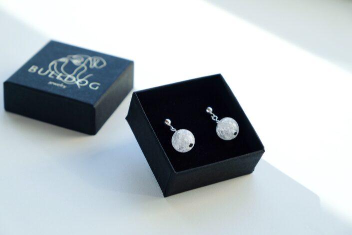 Earrings Crackle Quartz