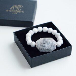 Bracelet Howlite and Opal